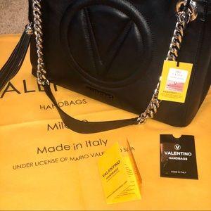 New! Valentino Luisa 2 signature black tote